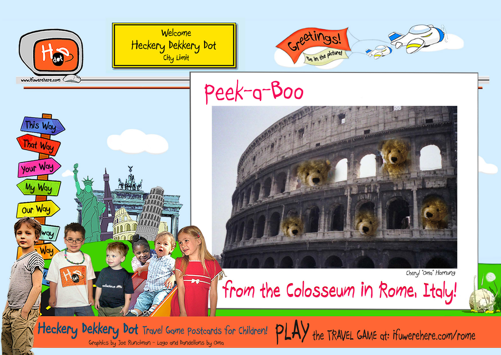 (3) Grab your Teddy Bear, and let's go to the Colosseum!